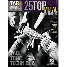 Hal Leonard 25 Top Metal Songs from Guitar Tab + Songbook Series - Tab, Tone & Technique