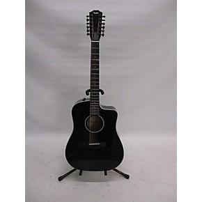 used taylor 250ce dlx 12 string acoustic guitar black guitar center. Black Bedroom Furniture Sets. Home Design Ideas