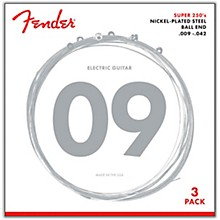 Fender 250L Super 250 Nickel-Plated Steel Electric Guitar Strings 3-Pack