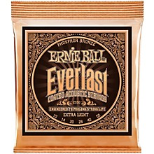 Ernie Ball 2550 Everlast Phosphor Extra Light Acoustic Guitar Strings