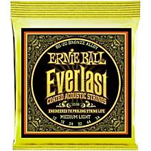 Ernie Ball 2556 Everlast 80/20 Bronze Medium Light Acoustic Guitar Strings