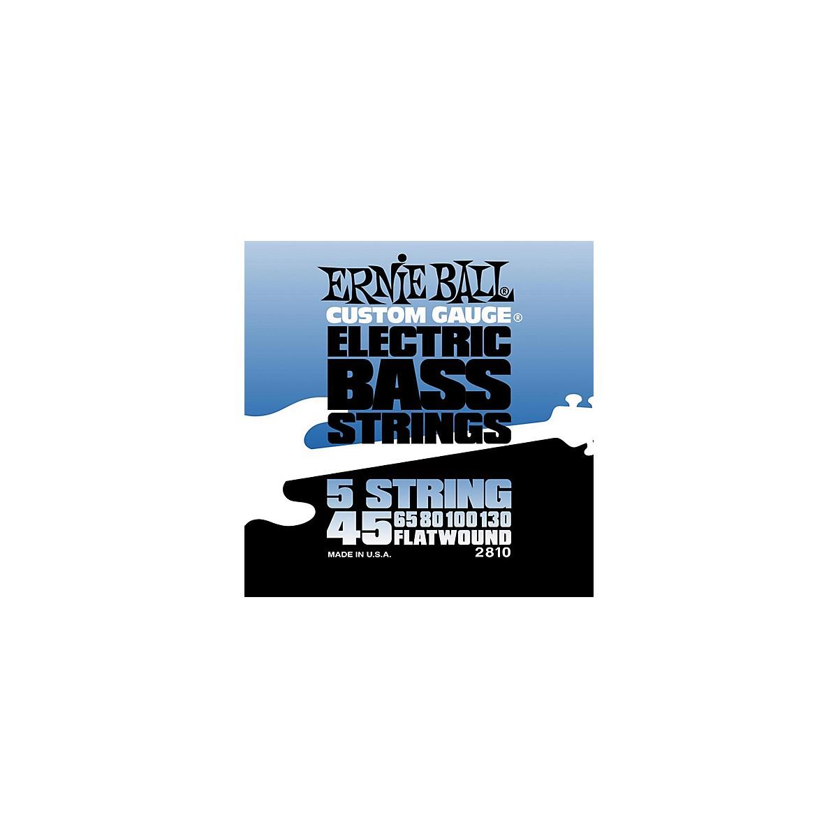 Ernie Ball 2810 Flatwound 5-String Bass Strings Set