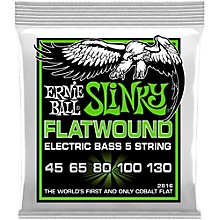 Ernie Ball 2816 Slinky Flatwound 5-String Bass Strings