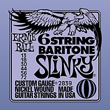 Ernie Ball 2839 Baritone Electric Guitar String Set