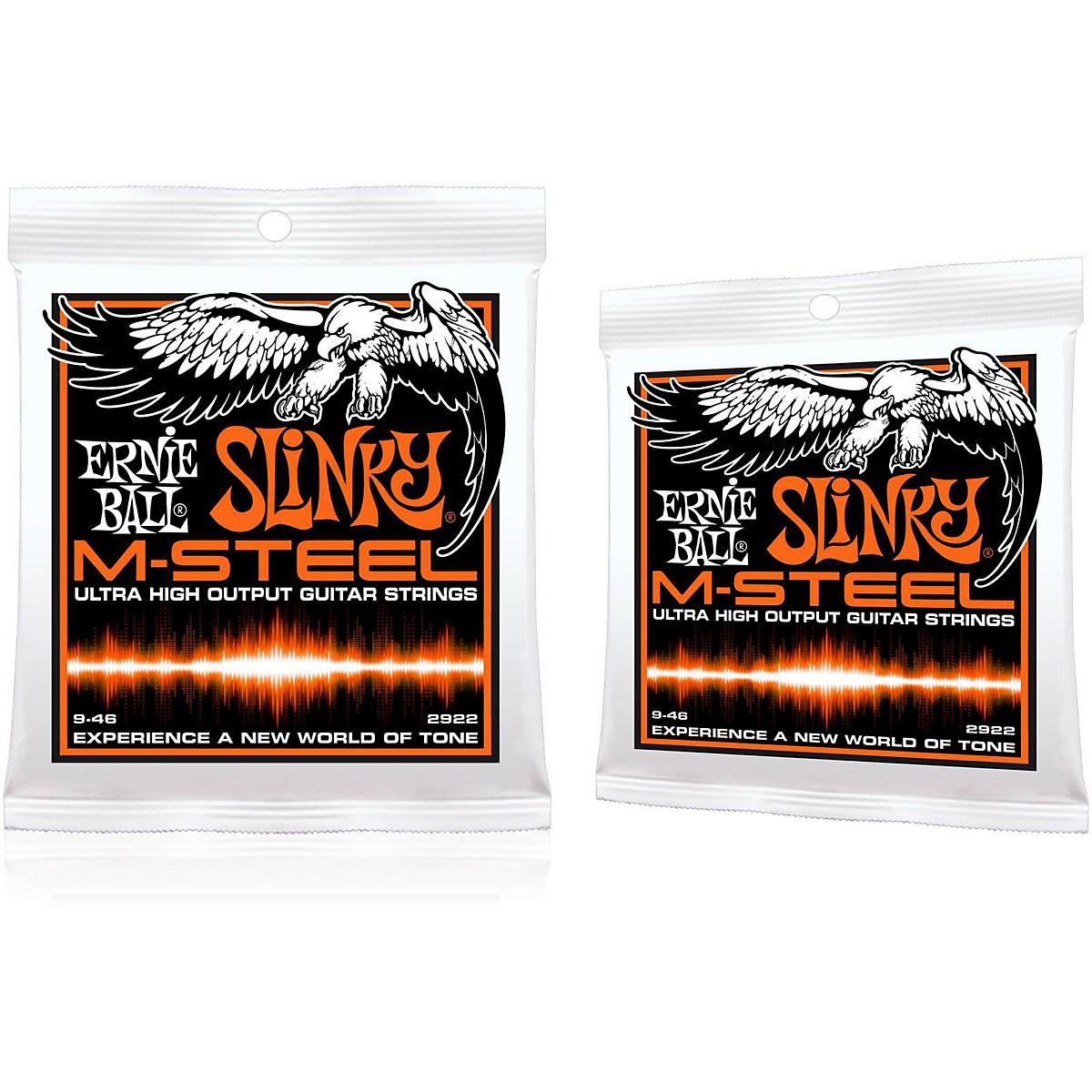 Ernie Ball 2922 M-Steel Hybrid Slinky Electric Guitar Strings 2-Pack