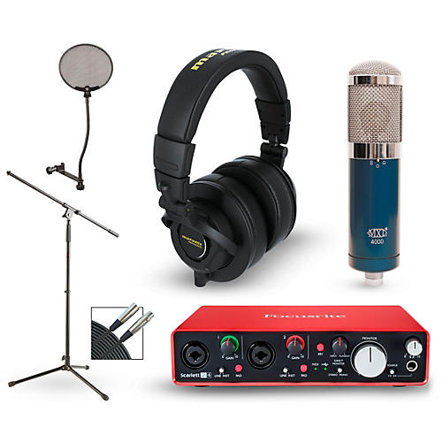 Focusrite 2i2 2nd Gen Interface with MXL 4000 and Marantz MPH-2