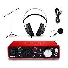Focusrite 2i2 Recording Bundle With AKG K52 Headphones