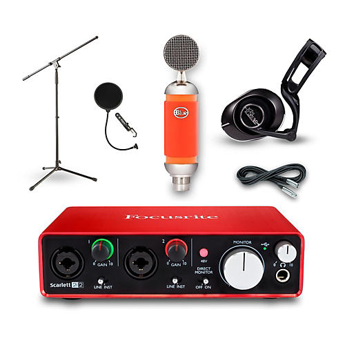 Focusrite 2i2 Recording Bundle with Blue Mic and Headphones