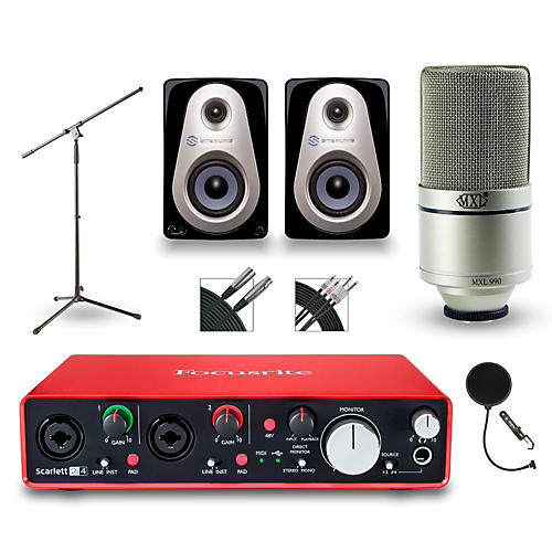 Focusrite 2i4 Recording Bundle With Sterling MX3 Monitors