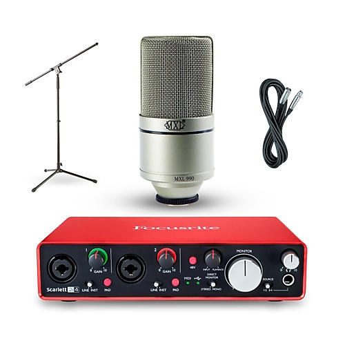 Focusrite 2i4 Recording Bundle with MXL 990 Mic