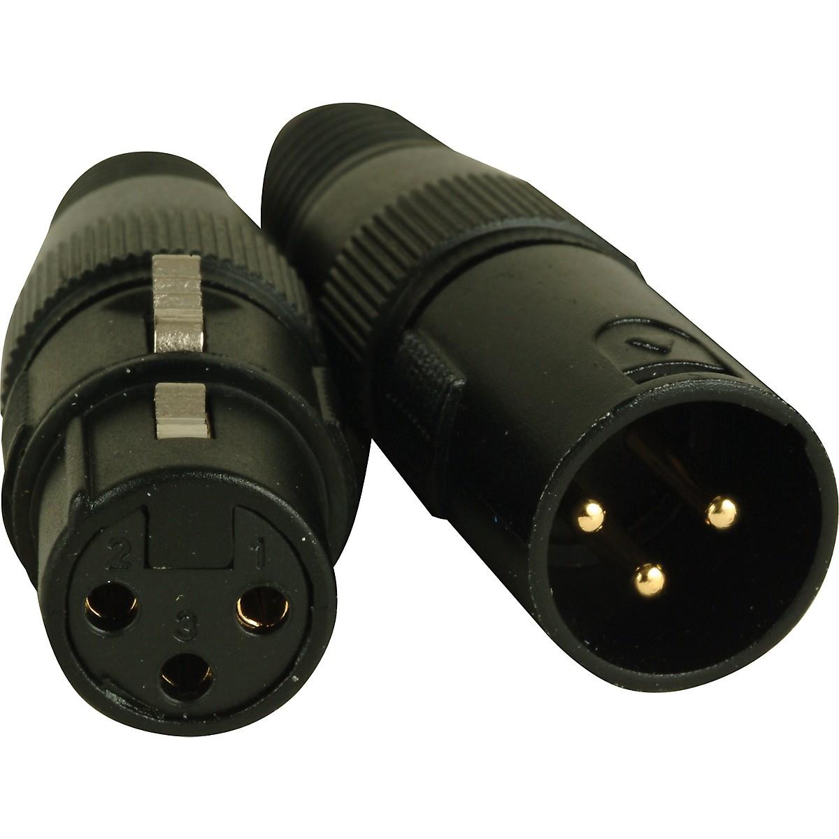 American DJ 3-Pin Male - Female XLR Connectors