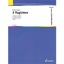 Schott 3 Ragtimes (for Bassoon and Piano) Woodwind Series Softcover