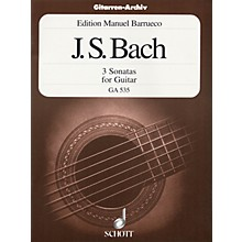 Schott 3 Sonatas for Guitar Solo (from Sonata for Violin, BWV 1001, 1003 and 1005) Schott Series