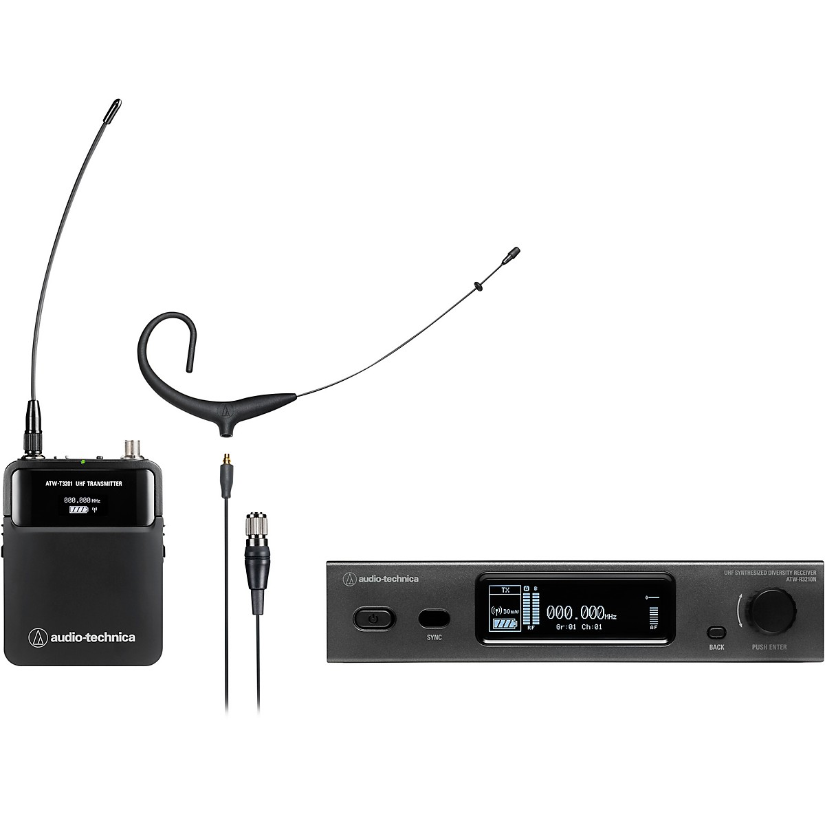 Audio-Technica 3000 Series (4th Gen) Network Enabled UHF Wireless with BP892xcH MicroSet Omnidirectional Condenser Headworn Microphone