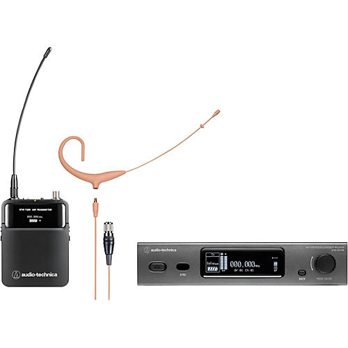 Audio-Technica 3000 Series (4th Gen) Network Enabled UHF Wireless with BP892xcH-TH MicroSet Omnidirectional Condenser Headworn Microphone