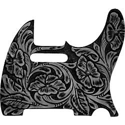 El Dorado Hand-Tooled Leather Tele Pickguard Black