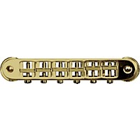 Tonepros Locking Tune-O-Matic (Small Posts) Notched Saddles Gold