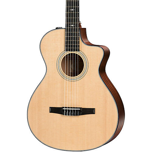 Taylor 312ce-N Grand Concert Nylon-String Acoustic-Electric Guitar
