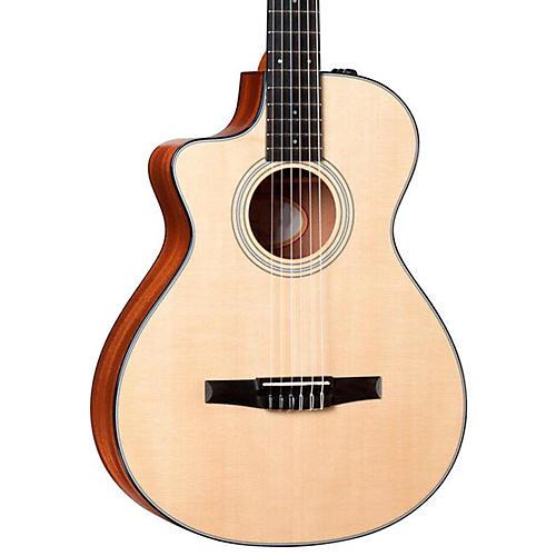 Taylor 312ce-N-L Sapele/Spruce Nylon String Grand Concert Left-Handed Acoustic-Electric Guitar