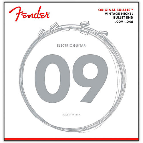 Fender 3150 Original Bullets Vintage Nickel Bullet End Electric Guitar Strings - Light