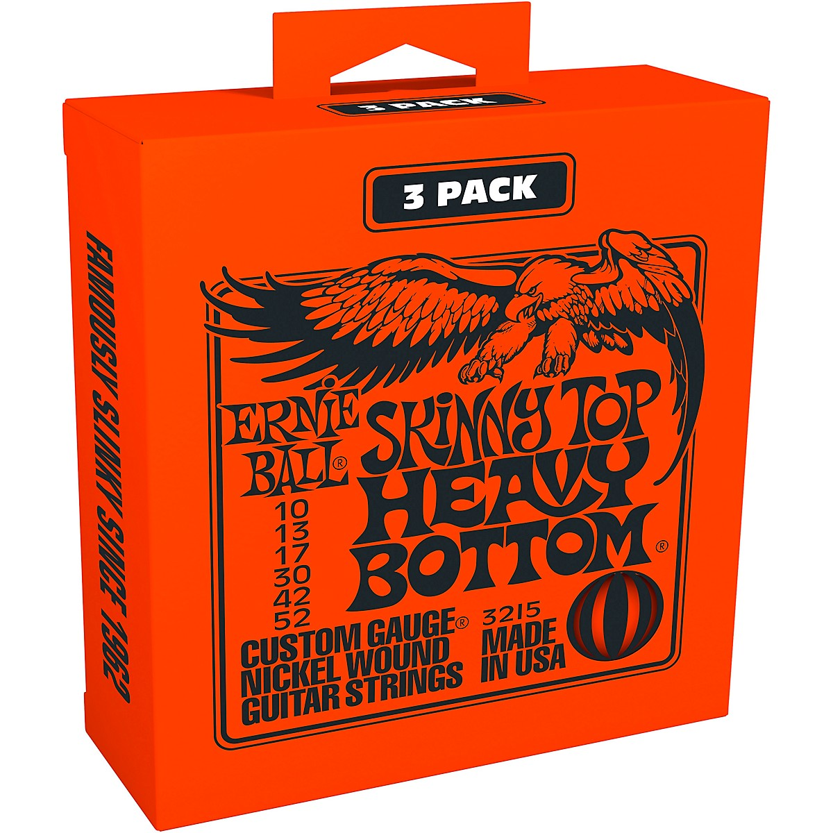 Ernie Ball 3215 Nickel Skinny Top/Heavy Bottom Electric Guitar Strings 3-Pack