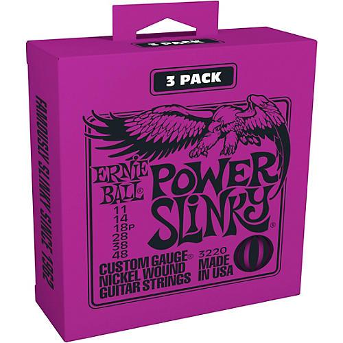 Ernie Ball 3220 Nickel Power Slinky Electric Guitar Strings 3-Pack