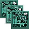 Ernie Ball 3226 Nickel Not Even Slinky Electric Guitar Strings 3-Pack thumbnail