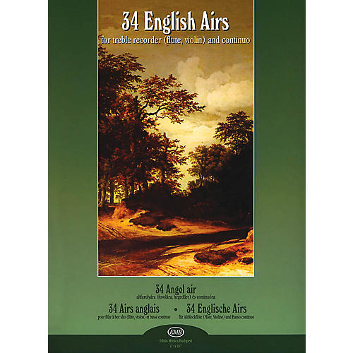 Editio Musica Budapest 34 English Airs EMB Series