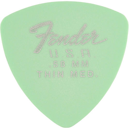 Fender 346 Dura-Tone Delrin Pick (12-Pack), Surf Green
