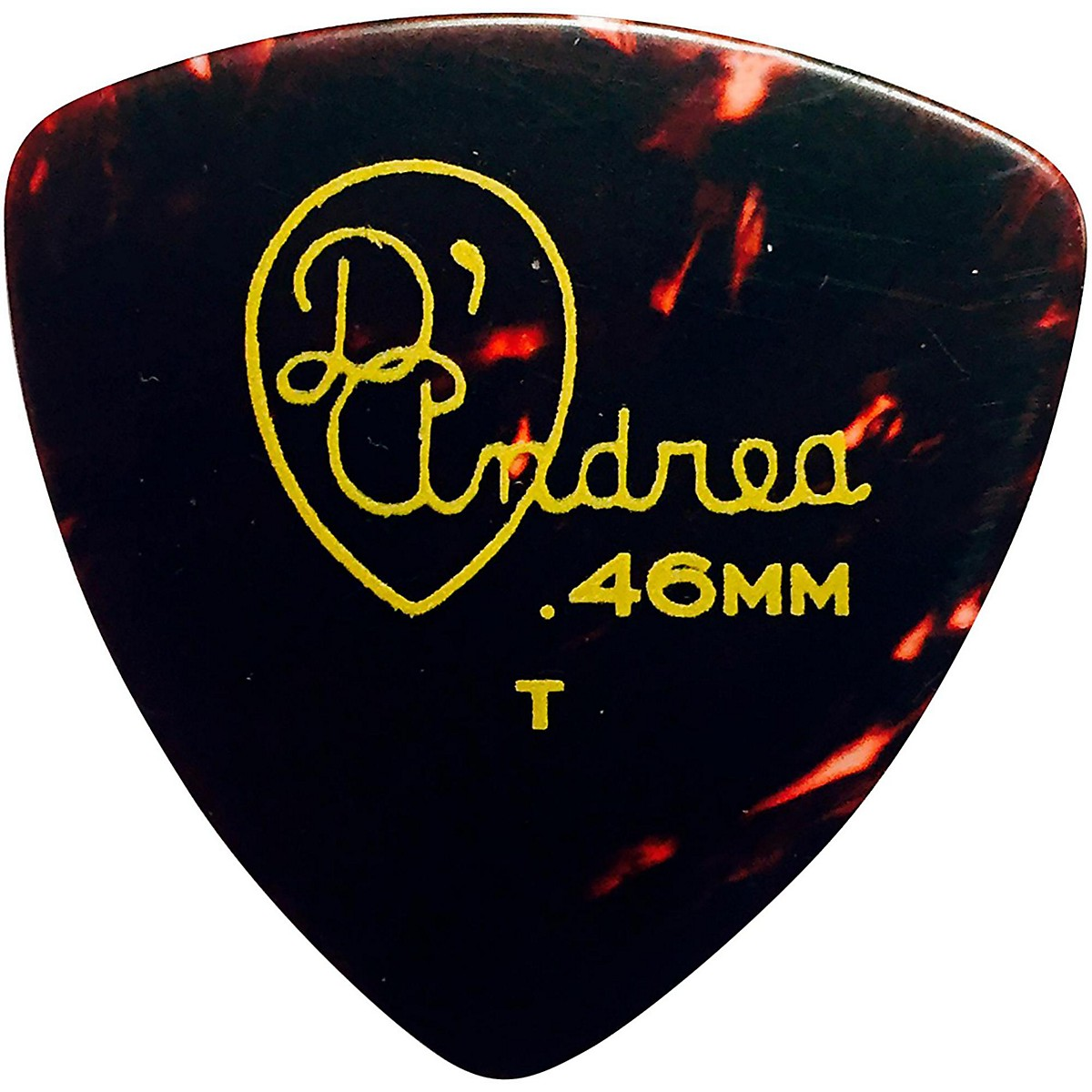 D'Andrea 346 Rounded Triangle Celluloid Guitar Picks - One Dozen