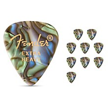 351 Premium Celluloid Guitar Picks  (12-Pack) Abalone X-Heavy