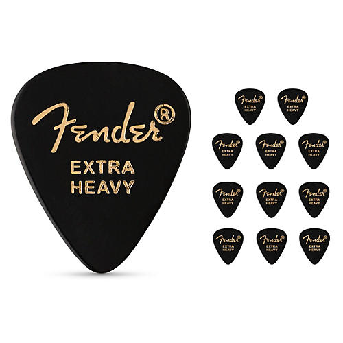 Fender 351 Shape Classic Celluloid Guitar Picks (12-Pack)