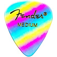 Fender 351 Shape Premium Picks Thin Rainbow Celluloid - 12-Pack
