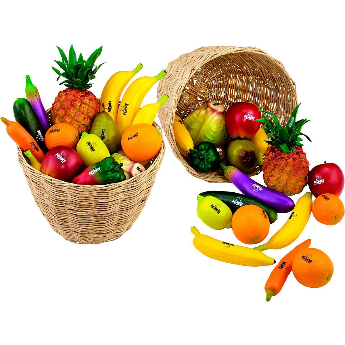 Nino 36-Piece Fruit and Vegetable Shakers in Basket