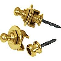 Schaller Guitar Strap Locks And Buttons (Pair) Gold