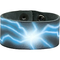 Perri's Leather Bracelet With Airbrushed Design Lightning