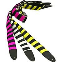Jodi Head Bee Stripe Slide Buckle Guitar Strap Yellow