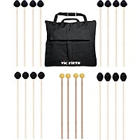 Vic Firth Keyboard Mallet 10-Pack W/ Free Mallet Bag M182(2), M183(2), M188(4) ,M134(2)