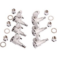 Sperzel 6 In-Line Locking Tuners Brushed Chrome