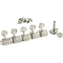 Kluson 6 In-Line Vintage Tuning Machines Nickel