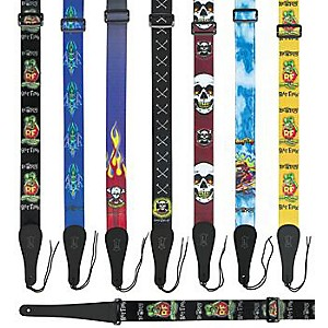 Levy's Rat Fink Guitar Strap Yellow