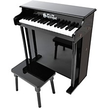 37-Key Traditional Deluxe Spinet Toy Piano Black