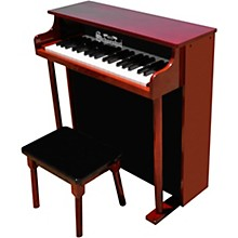 37-Key Traditional Deluxe Spinet Toy Piano Red/Black