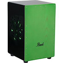 Pearl 3D Cajon with green faceplate and 3D tree