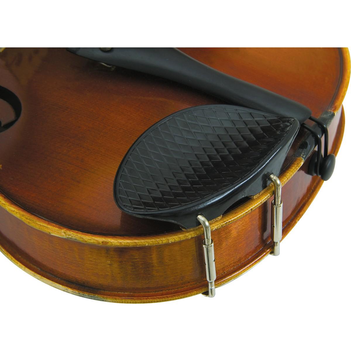 Glaesel 4/4 Violin Ribbed Plastic Chin Rest