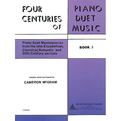Boston Music 4 Centuries of Piano Duet Music (Book 2) Music Sales America Series Softcover