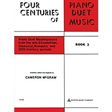 Boston Music 4 Centuries of Piano Duet Music (Book 3) Music Sales America Series Softcover