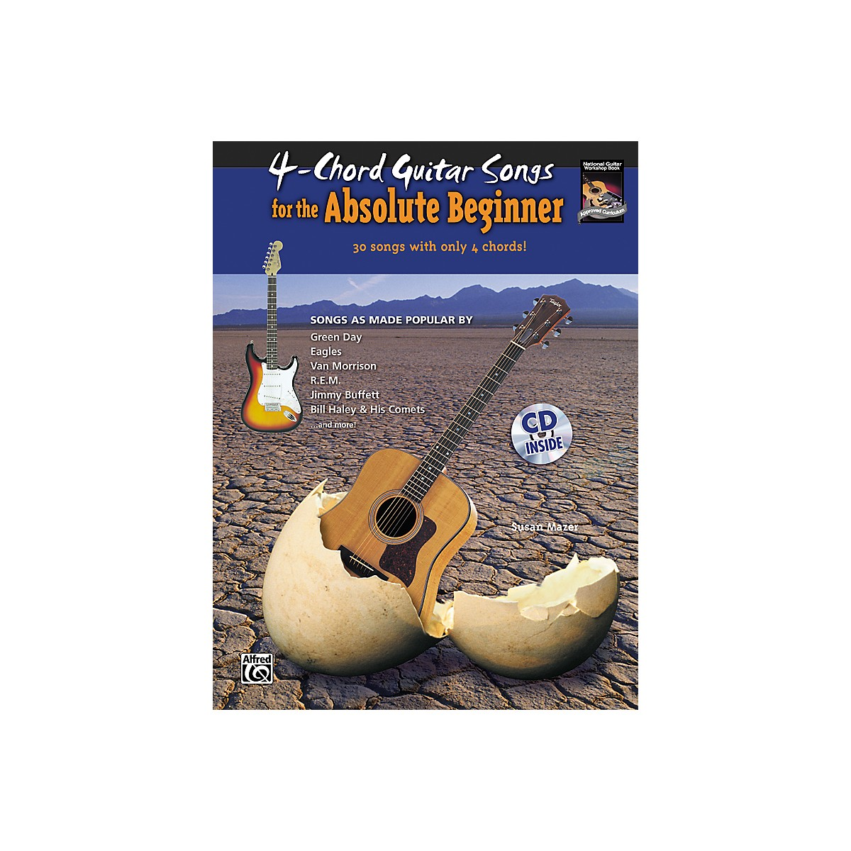 Alfred 4-Chord Guitar Songs for the Absolute Beginner Book & CD