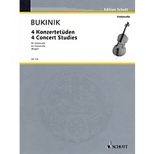 Schott 4 Concert Studies (Violoncello Solo) Schott Series Composed by Mikhail Bukinik