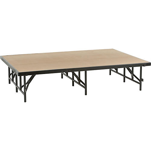 Midwest Folding Products 4' Deep X 6' Wide Single Height Portable Stage & Seated Riser